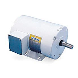 Leeson Motors Motor Washdown Motor-3HP, 208-220/460V, 1770RPM, TEFC, RIGID, 1.15 SF, 87.5 Eff.