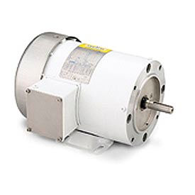 Leeson Washdown Motor-5HP, 208-220/460V, 1750RPM, TEFC, RIGID C, 1.15 SF, 87.5 Eff.