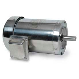 Leeson 3-Phase Washguard Duty Motor 5/3HP, 3510/2920RPM, 184TC, TEFC, 208 230/460 & 190/380V, C Face