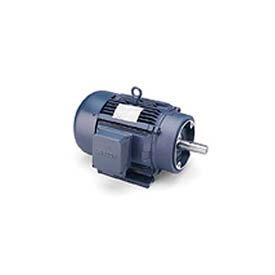 Leeson Motor-15//10HP, 208-220/460V, 3520/2945RPM, TEFC, Rigid, 1.15 SF, 90.2 Eff