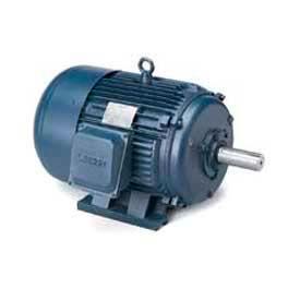 Leeson G141123.00, High Eff., 7.5 HP, 1760 RPM, 200-208/400-416V, 213T, TEFC, Rigid