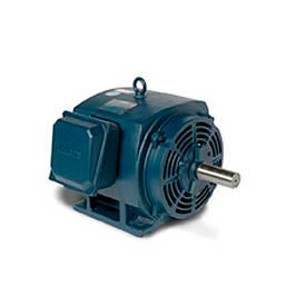 Leeson Motor-20HP, 208-230/460V, 1180RPM, DP, Rigid Mount, 1.25 SF, 91 Eff.