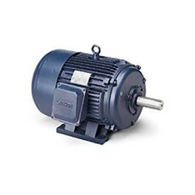Leeson Motor-50HP, 208-230/460V, 1185/985RPM, TEFC, Rigid Mount, 1.15 SF, 93 Eff.