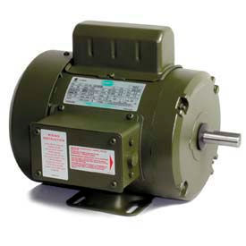 Leeson Single Phase Farm Ag Motor 1HP, 1725RPM, TEFC, 115/208-230V, 60HZ, Manual, Rigid C