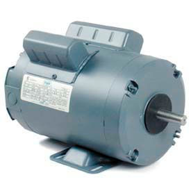 Leeson Single Phase Farm Ag Motor 1 1/2HP, 1725RPM, TENV, 115/230V, 60HZ, Airover, Auto, Rigid