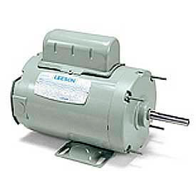 Leeson Single Phase Farm Ag Motor 1/2HP, 1060RPM, 48Y, TENV, 115/230V, 60HZ, Airover, Auto, Rigid