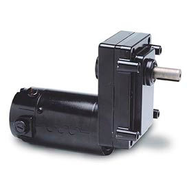 Leeson M1125247.00, 1/8 HP, 51 RPM, 90VDC, TENV, OS300, 35:1 Ratio, 130 In-Lbs