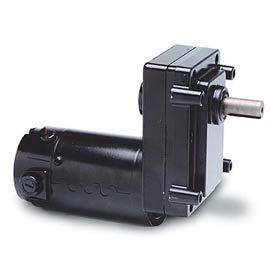 Leeson M1125252.00, 1/8 HP, 51 RPM, 12VDC, TENV, OS300, 35:1 Ratio, 130 In-Lbs