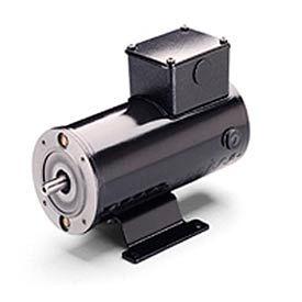 Leeson Motors Metric DC Motor-.18 KW, 24V, 3000RPM, IP54, B14