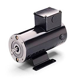 Leeson Motors Metric DC Motor-.18 KW, 24V, 1800RPM, IP54, B14