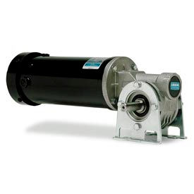 Leeson Electric Gearmotors-Right-Angle Shaft, 90RPM, 1/4HP, TEFC, 90V, DC
