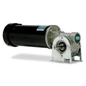 Leeson Motors Electric Gearmotors-Right-Angle Shaft, 90RPM, 1/4HP, TEFC, 90V, DC