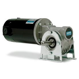 Leeson M1135297.00, 1/4 HP, 58 RPM, 12VDC, TENV, 512, 30:1 Ratio, 158 In-Lbs