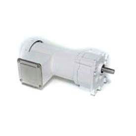 Leeson Motors AC Integral GearMotor P240, 103:1, 16RPM, 391lb.in, .16HP, 38, 115/230V,
