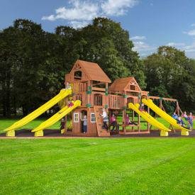 Backyard Odyssey™ Safari Cedar All Cedar Outdoor Swingset