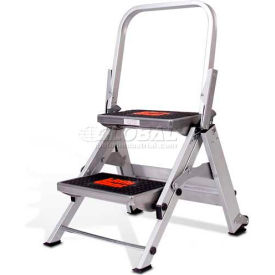 Little Giant® Safety Aluminum Step Ladder - 2 Step - 10210BA