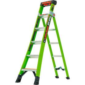 Little Giant 6' King Kombo Industrial 375 lbs Type IAA Fiberglass Step/Extension Ladder - 13610-071