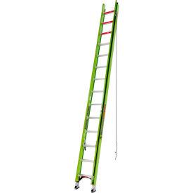Little Giant 28' HyperLite 375 lb. Capacity Type IAA Fiberglass Extension Ladder - 17928