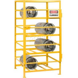 """Little Giant® Horizontal, 8 Cylinder, Industrial Gas Cylinder Cage, 36""""W x 36""""D x 70""""H"""