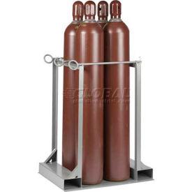 "Little Giant® Vertical, 4 Cylinder, Gas Cylinder Pallet Stand, 33""W x 25""D x 41""H"
