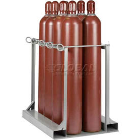 "Little Giant® Vertical, 8 Cylinder, Gas Cylinder Pallet Stand, 33""W x 47""D x 41""H"