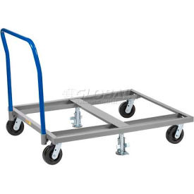Little Giant® Pallet Dolly with Handle & Floor Lock PDH-4248-6PH2FL, 48 x 42, 3600 Lb. Cap.