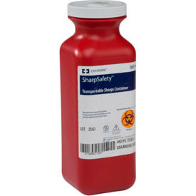 Covidien SharpSafety™ Transportable Sharps Container, Screw Cap, 1.5 Quart, Case of 20
