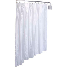 """R&B Wire Products PST Telescoping Privacy Screen, 90""""L x 72""""H, White Vinyl Panel"""