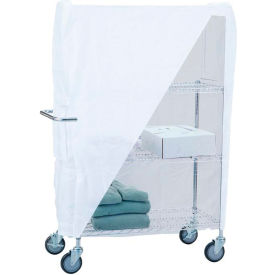 """R&B Wire Products UC1836C Linen Cart Nylon Cover, 36""""L x 18""""W x 53""""H, White"""
