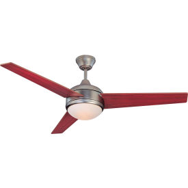 Fans residential ceiling fans concord 52quot skylark 3 blade concord 52 skylark 3 blade ceiling fan with light 52sky3esn satin nickel aloadofball Image collections