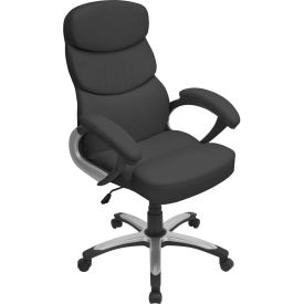 "Lumisource Doctorate Office Chair- 26-1/2""L x 27""W x 42-1/2 - 46""H, Black"