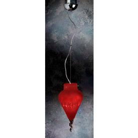 """Lumisource Nessa Ceiling Lamp - 4-1/2"""" Diam X 16""""H -Red"""