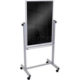 """Luxor® Double Sided Mobile Blackboard, 30""""W x 40""""H Board"""