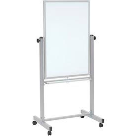 """Luxor Mobile Reversible Magnetic Whiteboard - 24""""W x 36""""H"""