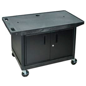 A/V Cart w/ Cabinet & Wide Top - 42x24x27