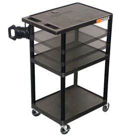 Adjustable Height A/V Cart - 32x24x27-54, Black