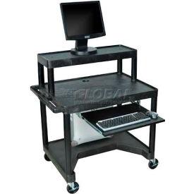 Mobile Computer Desk - 32 x 24 x 39-1/2 Black