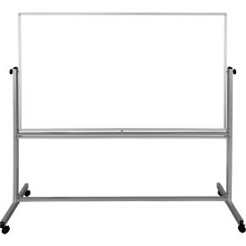 """Luxor Mobile Magnetic Dry Erase Whiteboard - Double Sided Reversible - 72"""" x 48"""""""
