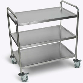 "Luxor 37""H Stainless Steel Transport Cart"