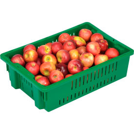 """LEWISBins Stack-N-Nest Agricultural Container AF2013-6, 19-11/16""""L x 13-1/8""""W x 5-5/8""""H, Green - Pkg Qty 10"""