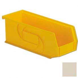 """LEWISBins Plastic Stacking Bin PB104-4- - 4-1/8""""W x 10-13/16""""D x 4""""H,Stone - Pkg Qty 12"""