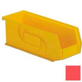 """LEWISBins Plastic Stacking Bin PB104-4- - 4-1/8""""W x 10-13/16""""D x 4""""H, Red - Pkg Qty 12"""