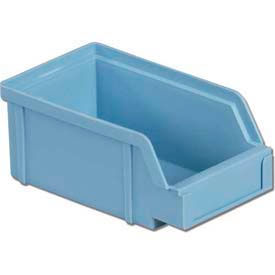 """LEWISBins Plastibox® Stack-Hang Part Bin PB22 - 8-13/16""""W x 6-5/8""""D x 2-29/32""""H, Lt. Blue - Pkg Qty 12"""