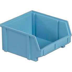 """LEWISBins Plastibox® Stack-Hang Part Bin PB31 - 8-13/16""""W x 9-5/16""""D x 5""""H / Light Blue - Pkg Qty 8"""