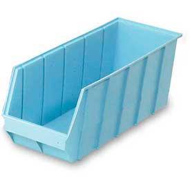 "LEWISBins Heavy Duty Plastic Shelf Bin SH2409-9 - 8-13/16""W  x  23-5/8""D  x  9""H, Light Blue - Pkg Qty 6"