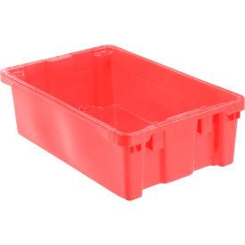 "LEWISBins SN2414-8 Polyethylene Container 24""L x 14""W x 8""H, Red - Pkg Qty 5"