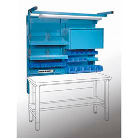 "Lyon Pre-Engineered Sky-Wal II Units w/ Plastic Bins, Cabinet, 60"""