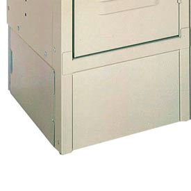 "Lyon Closed End Locker Base DD5805 - 18""Dx6""H - 2-Pack - Gray"