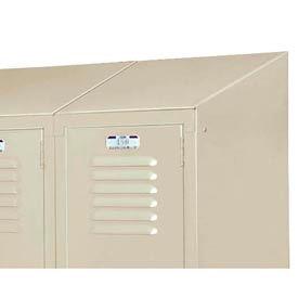 "Lyon Slope Top Kit DD5835 For Lyon Lockers - Three-Wide - 18""Wx18""D - Gray"
