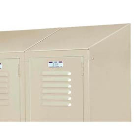 "Lyon Right And Left Slope Top DD5847 For Lyon Lockers - 15""D - Gray"
